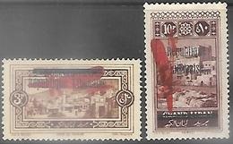 Lebanon  1927  Sc#C18 & C20  3p & 10p Airmails MH    2016 Scott Value $11 - Liban