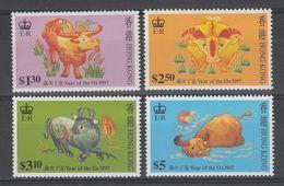 SERIE NEUVE DE HONG KONG - ANNEE LUNAIRE DU BOEUF N° Y&T 810 A 813 - Nouvel An Chinois