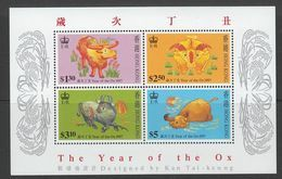 BLOC NEUF DE HONG KONG - ANNEE LUNAIRE DU BOEUF N° Y&T 47 - Nouvel An Chinois