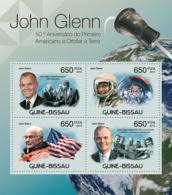 Guinea Bissau 2012   John Glenn & Friendship 7 Space - Guinea-Bissau