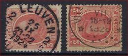 Nr. 192 (2 X) Met Mooie Rondstempels Van VILLERS-LE-TEMPLE En LEUVEN 2 ; Staat Zie Scan ! - 1922-1927 Houyoux