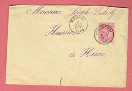 M - Lettre 145x95  - Oblitération Huy-Nord Par Modave Vers Héron Le 6-Dec-1900 - 1893-1900 Fine Barbe