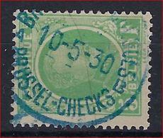 Nr. 209  Met BLAUWE Stempel BRUXELLES - CHEQUES / BRUSSEL CHECKS En In Goede Staat (zie Ook Scan) ! - 1922-1927 Houyoux