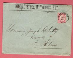 M - Lettre Commerciale 155x114  - Oblitération Huy-Nord Vers Héron Le 15-Sept-1900 - 1893-1900 Fine Barbe