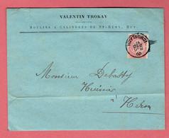 M - Lettre Commerciale 155x120  - Oblitération Huy-Nord Vers Héron Le 14-Dec-1900 Sur N°58 - 1893-1900 Fine Barbe