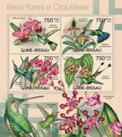 Guinea Bissau 2012 Fauna  Colibri And Orchids  Birds - Guinea-Bissau