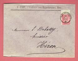M - Lettre Commerciale 155x116  - Oblitération Huy-Nord Vers Héron Le 13-Juillet-1901 Sur N°58 - 1893-1900 Fine Barbe