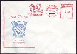 Czechoslovakia - 1992 G - Olympic Winners 1952 - Cover - Summer 1952: Helsinki