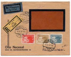 Nr. 508 Schöne  MIF Luftpostbrief/Einschreiben 1932 Nach Berlin-Reinickendorf - Briefe U. Dokumente