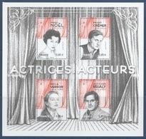 F 5174 Acteurs Et Actrices De Théatre Et De Cinéma Faciale 0,85 Euro X 4 - Blocs & Feuillets