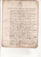 Gen Auch 1 Juin 1776 Concene Un Contentieux Sur Bois De Labroquère  8 Scans - Cachets Généralité