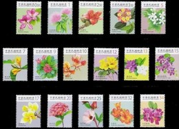 Taiwan Complete Series 2009-2010 Flower Stamps (I-IV)  Flora Post - Unused Stamps