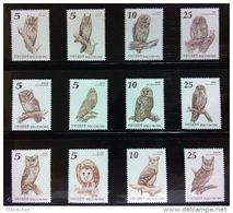 2011 , 2012  & 2013 Taiwan Owls Stamps Fauna Owl Bird  Total 3 Sets - Owls