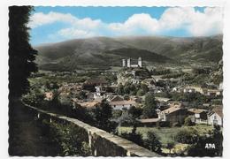 FOIX - N° 106 - VUE GENERALE - LE CHATEAU - AU FOND LE PRAT D' ALBIS - CPSM GF NON VOYAGEE - Foix