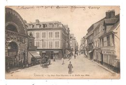 Lisieux-La Rue Pont-Martain Et La Halle Aux Blés-(C.9036) - Lisieux