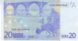 (Billets). 20 Euros 2002 Serie P, R030F3, N° P 39122457949,  Signature 3 Mario Draghi UNC - EURO