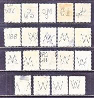 U.S.   499 + Perf.  11  WASHINGTON- FRANKLINS  (o)    PERFINS - Perfins