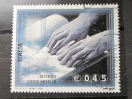 *ITALIA* USATI 2004 - SISTEMA BRAILLE - SASSONE 2790 - LUSSO/FIOR DI STAMPA - 6. 1946-.. Repubblica