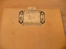 Carte Géographique 8 Parties Entoilée CH.Piquet 59X44 Environ Clamecy Auxerre Yonne 1845 N°110 - Geographical Maps