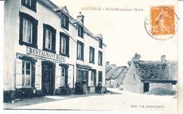 50 Gouville - Hotel Restaurant Marie.animé, édit Vve Alfred Marie.datée 1929. Tb état. - Autres Communes