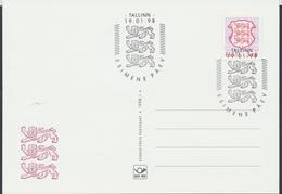 58-1 Estonia Tallinn FDC Postcard 19.01.1998 - Estonia