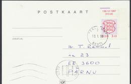 58-2 Estonia Tallinn FDC Postcard 19.01.1998 From  Post Arrival Postmark - Estonia