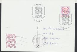 58-3 Estonia Tallinn FDC Postcard 19.01.1998 From  Post Arrival Postmark - Estonia