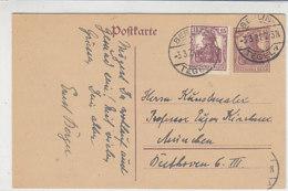 Ganzsache Mit Zusatzfrankatur Aus BERLIN-TEGEL 3.3.21 Nach München - Lettres & Documents