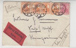Eilbotenbrief Aus DÜSSELDORF 13.12.17 Nach Soest - Lettres & Documents