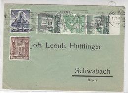 Brief Mit Zusammendruck Ua. Aus WIEN 11.5.41 Nach Schwabach / Bayern - Deutschland
