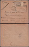 FRANCE LETTRE EN VALEUR DECLAREE DE RENNES 1896 VERS BORDEAUX TAXE Yv 29 X2 (4G31338) DC-1642 - 1960-.... Covers & Documents