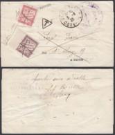 FRANCE BANDE IMPRIME 1926 TAXE YV 33+37 DE ET VERS DIJON (4G31338) DC-1648 - 1960-.... Covers & Documents