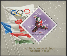 //// JO 1968 - HONGRIE - Yvert : BF 68** - Michel : Block 62** - Winter 1968: Grenoble