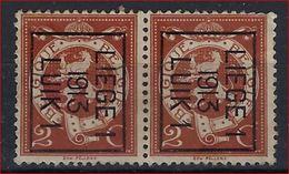 "Preo TYPO Nr. 43 B  (2x) - ""  LIEGE 1  1913 LUIK 1 ""  ROLLER PRECANCELS - Handrol Preo's - Préos à Roulette ! - Vorfrankiert"