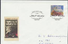 58-14 Estonia Tartu Writer Kivikas Cacellation 16.01.1998 From Post Arrival Postmark - Estonia