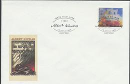 58-16 Estonia Tartu Writer Kivikas Cacellation 16.01.1998 - Estonia