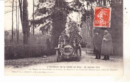77 Provins - Inondation Vallée De Bray .24.01.1910- Départ Du Sous Prefet Pour Visiter Les Sinistrés.TB état - Provins