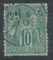 N°76  NUANCE ET OBLITERATION. - 1876-1898 Sage (Type II)