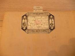 Carte Géographique 8 Parties Entoilée CH.Piquet 59X44 Environ Nevers  1847 N°123 - Cartes Géographiques