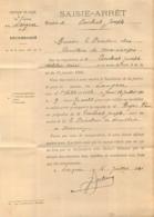 HAUTE LOIRE 1922 SAISIE ARRET HUILERIES DE MARSANGES PAR LANGEAC - France