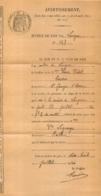 LANGEAC HAUTE LOIRE 1936 AVERTISSEMENT CONVOCATION - France