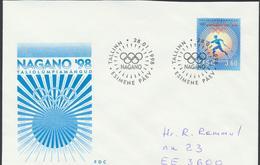 58-18 Estonia Tallinn Nagano Olympics FDC 28.01.1998 From Post Arrival Postmark - Estonia