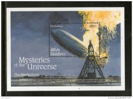 Maldives 1992 Explosion Of The Hindenburg Graf Zappline Sc 1757 M/s MNH # 12560 - Zeppelins