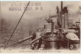 MARINE MILITAIRE-SERVICE EN ESCADRE-TAMPON HOPITAL TEMPORAIRE No8-BREST - Guerre 1914-18