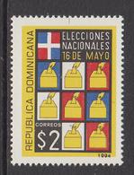 1994 Dominican Republic Dominicana National Elections Democracy  Complete Set Of 1 MNH - Dominicaine (République)