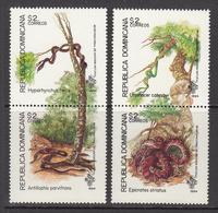 1994 Dominican Republic Dominicana Snakes   Complete Set Of 2 Pairs MNH - Dominicaine (République)