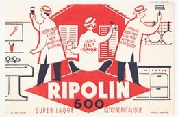Buvard 20.5 X 13.5 RIPOLIN 500 Laque Glycérophtalique  N° B - 23 - 12-1-53 - Buvards, Protège-cahiers Illustrés