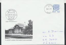 58-31 Estonia Tallinn Lagedi Post Office 23.02.1998 From Post Arrival Postmark - Estonia