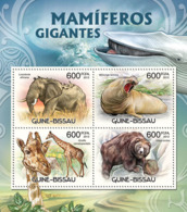 Guinea Bissau 2012  Giant Mammals Fauna Elephants  Bears - Guinea-Bissau