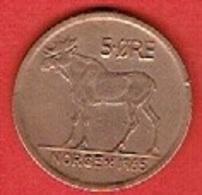 NORWAY  # 5 ØRE FRA 1965 - Norvège